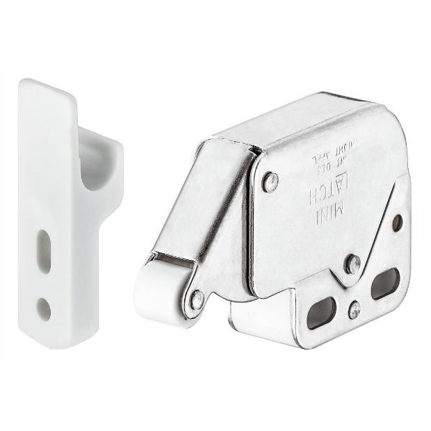 Hafele 245.54.701 Mini Touch (Tutch) Latch; Nickel Plated (NP)
