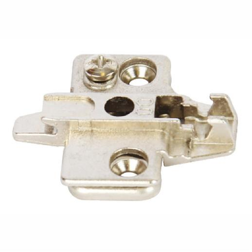 Hafele 322.85.752 Concealed Hinge Mounting Plate; Height 2mm; Hospa Screw Fixing; Click On; Nickel Plated (NP)