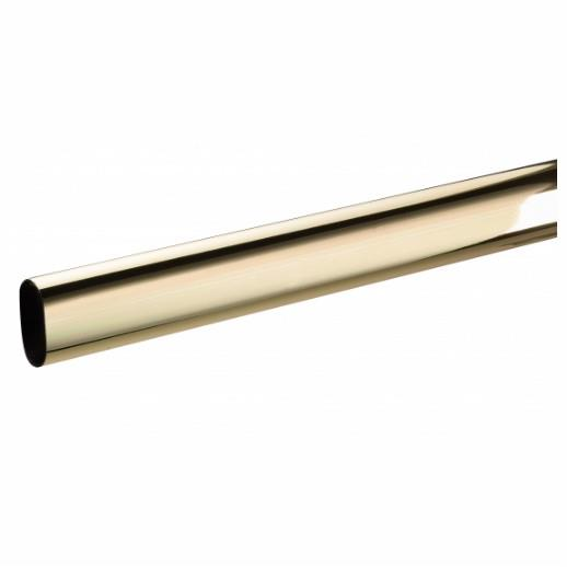 Oval Hanging Rail; Electro Brassed (EB); 30mm x 15mm x 2500mm