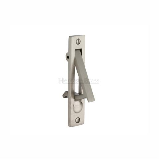 Heritage C1165 Pocket Door Edge Pull; Satin Chrome Plated (SCP)