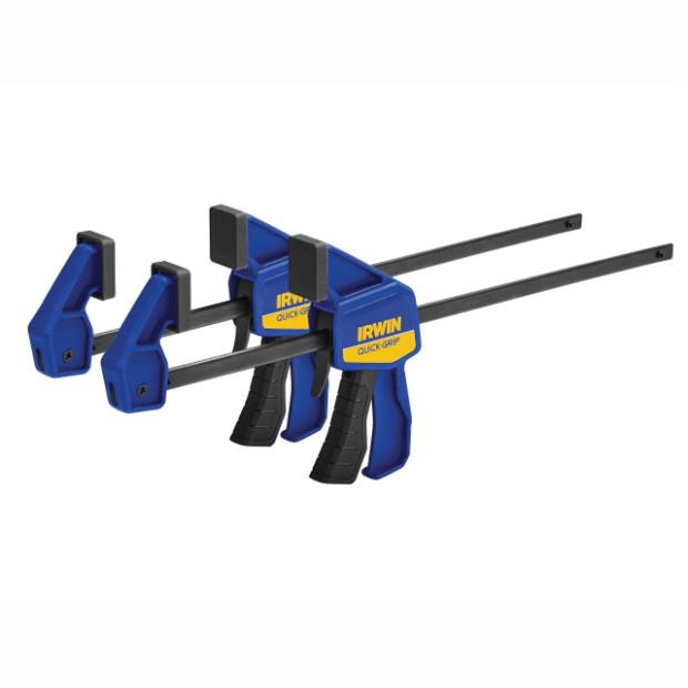 "Irwin Quick Grip T54122EL7 Trigger Action Mini Bar Clamp; Twin Pack; 300mm (12"")"