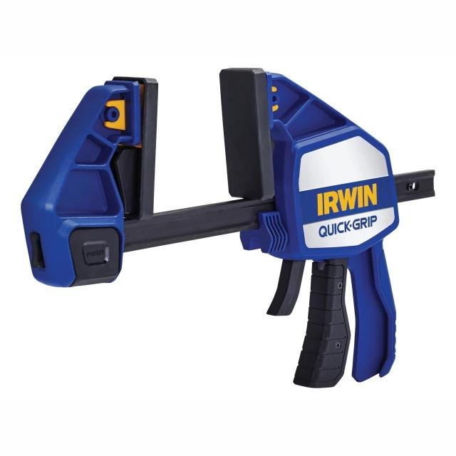 "Irwin 10505942 Xtreme Pressure One Handed Quick Grip Trigger Action Clamp; Clamping Capacity 150mm (6"") Spreading Capacity 420mm (16"")"
