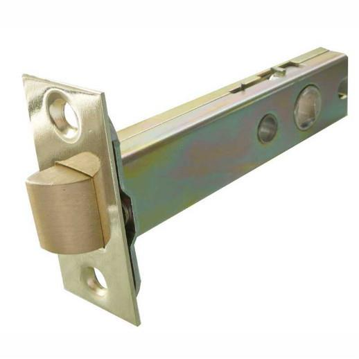 "Jedo JL6666 Bolt ThroughTubular Mortice Latch; Heavy Duty Double Sprung; 79mm (3""); 60mm (2 1/2"") Backset; Polished Brass/Satin Stainless (PB)(SSS)"