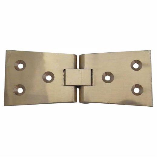 "Jedo J9020PB Counter Flap Hinges; 99 x 40mm (4"" x 1 1/2""); Polished Brass (PB)"