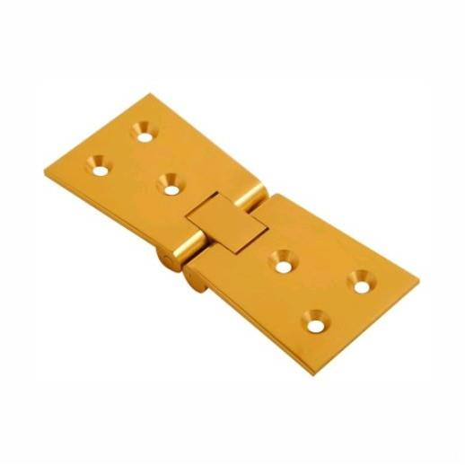 "Counter Flap Hinges; 102 x 38mm (4"" x 1 1/2""); Polished Brass (PB)"