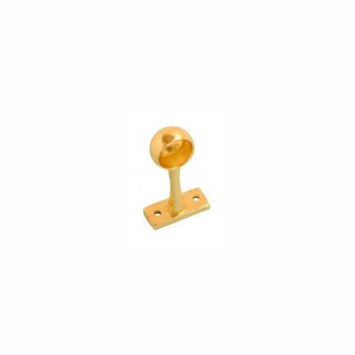 "Hanging Rail End Bracket; Electro Brassed (EB); 25mm (1"")"