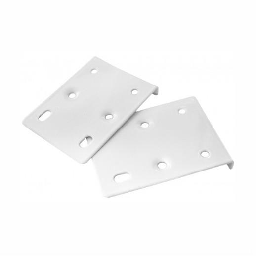 Concealed Hinge Carcass Repair Plate; 75 x 10 x 55mm; White (WH)