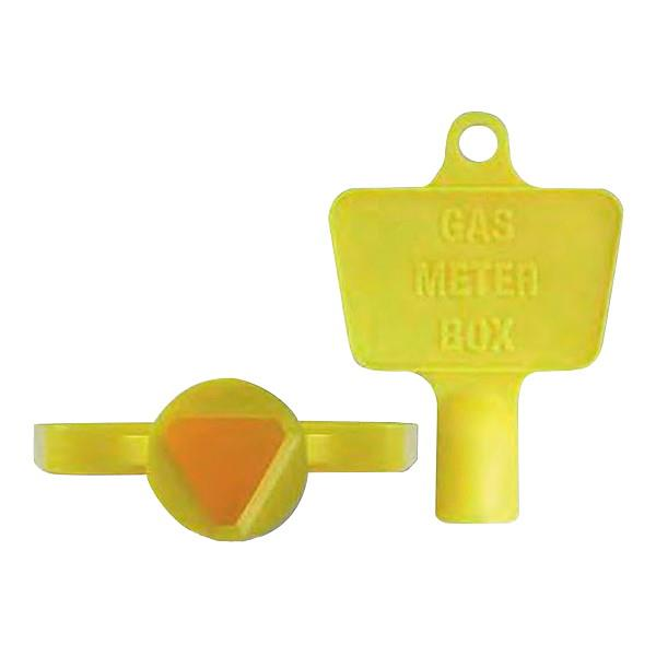 Plastic Gas Meter Cupboard Key; (Triangle); Yellow (YEL)