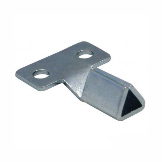 Plastic Meter Cupboard Key; (Triangle); Zinc Plated (ZP)
