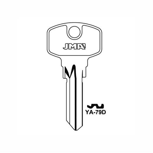 Cut Key; Yale Household Cylinder; (H-16HL)(Silca :YA 89; HD : YAX1; Orion:YAL94)