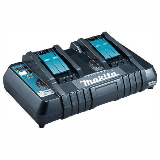 Makita DC18RD Twin Port Battery Charger; 7.2 - 18 Volt; 240 Volt; 22 Minute (3.0Ah)