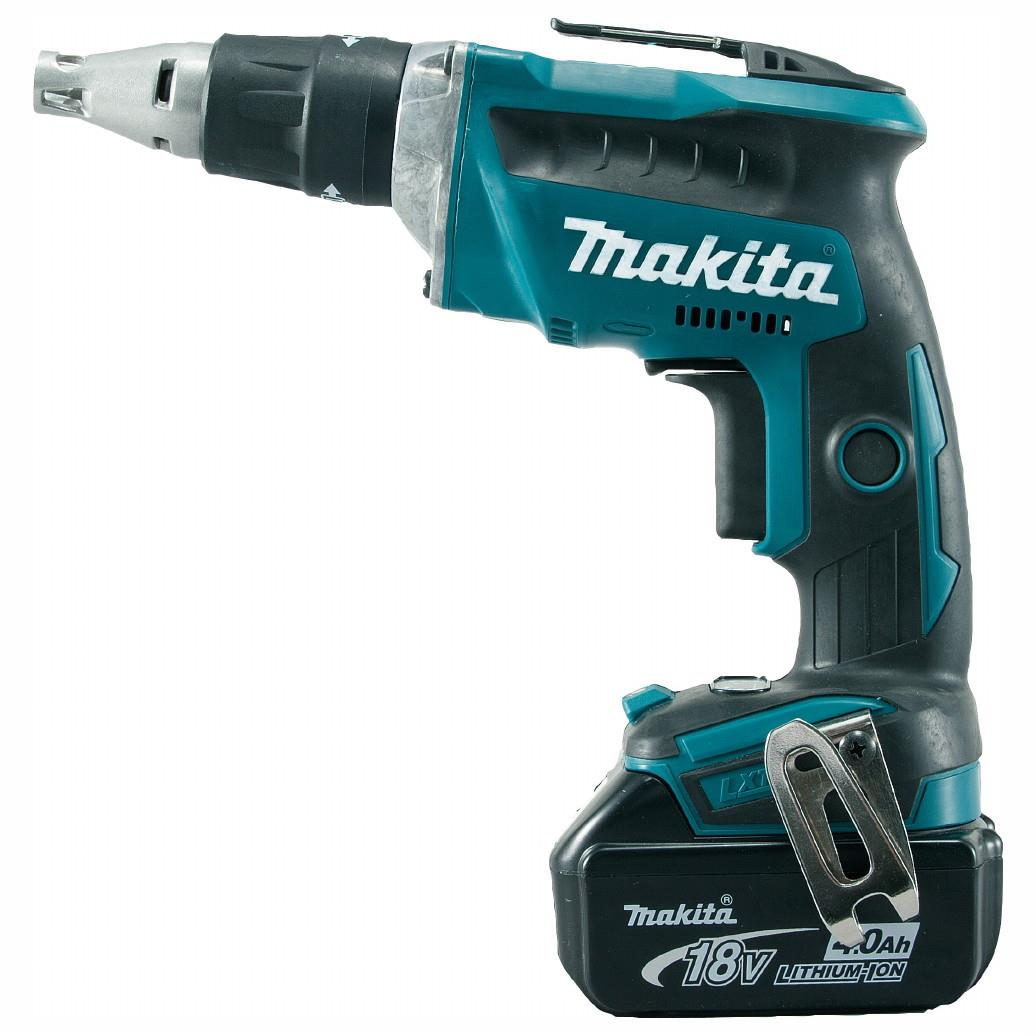 Makita DFS452RMJ LXT Brushless Drywall Screwdriver; 18 Volt; 2 x 4.0 Ah Batteries; Charger; Makpac Case