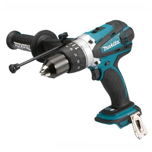 Makita DHP458Z LXT Combination Drill; 2 Speed; 13mm Keyless Metal Chuck; 18 Volt; Bare Unit (Body Only)