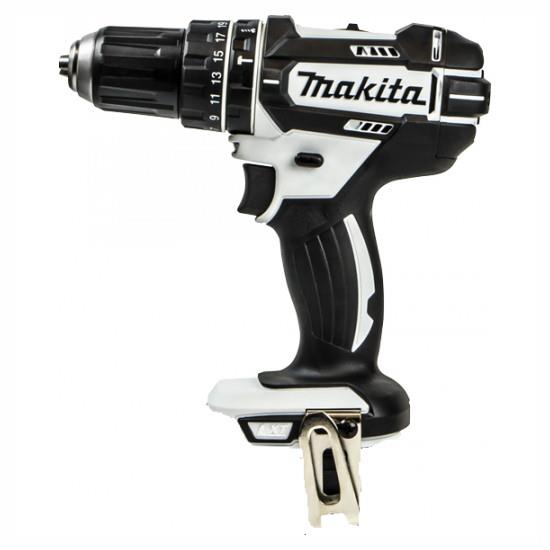 Makita DHP482WZ LXT Combination Drill; 2 Speed; 18 Volt; Compact Body; Bare Unit (Body Only); White (WH)