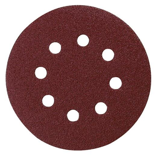 Makita P-43608 Velcro Backed Sanding Disc; 320 Grit; 125mm; 8 Holed; Pack (10)