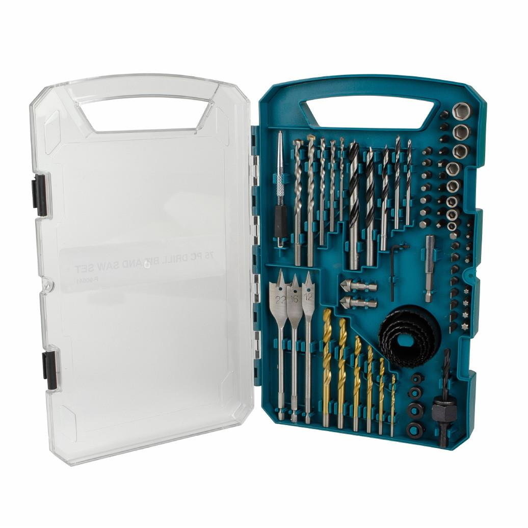 Makita P-90641 75 Piece Combination Kit; Supplied In Carry Case
