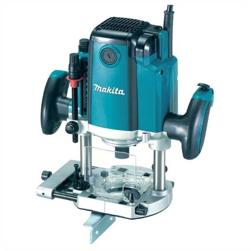 "Makita RP1801XK Plunge Router; 1/2"" Collet; 1650 Watt; With Case; 240 Volt"