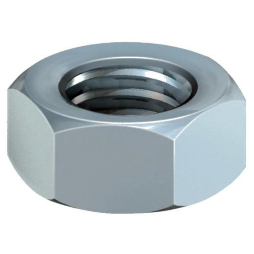 Hex Full Nut; Zinq Plated (ZP); DIN934; 5mm - M5