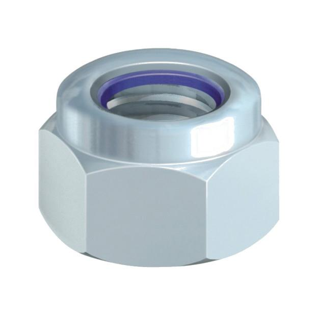 Nylon Insert Nuts; Type P; Zinc Plated (ZP); M5
