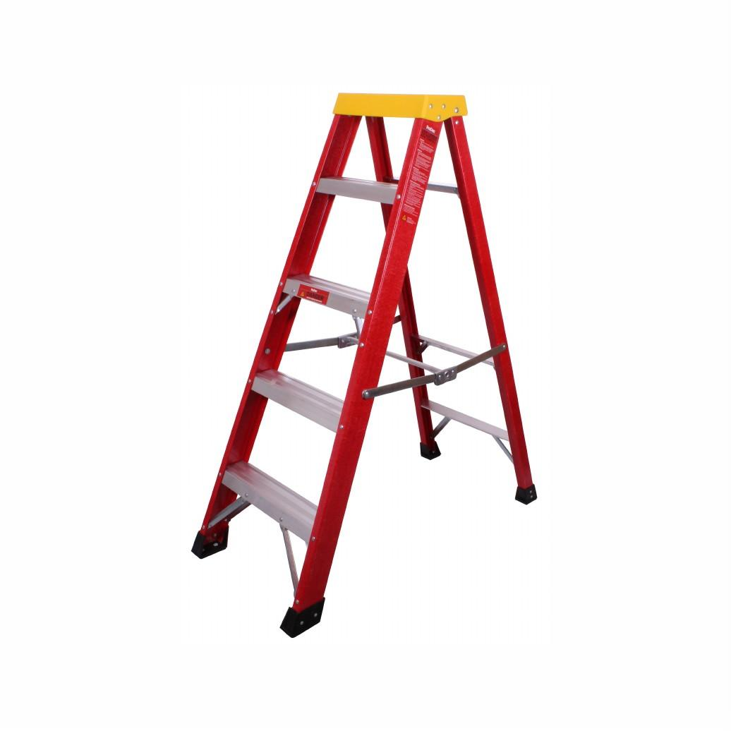 ProDec LFD150 6 Tread; Glass Fibre Builders Step Ladder; EN131/2; Closed Length 1480mm; Non-Conductive