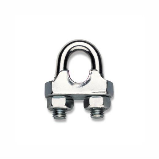 "Robur 8016 Wire Rope Clips (Grips); Hot Forged Steel Body; Galvanised (GALV); 3mm (1/8"")"
