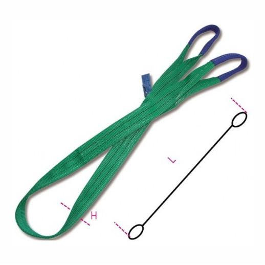 8153 2000 MT1 Green Flat Webslings; 2 Tonne; 1 Metre