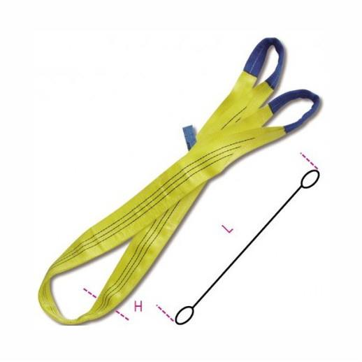 8156 3000 MT6 Yellow Flat Webslings; 3 Tonne; 6 Metre