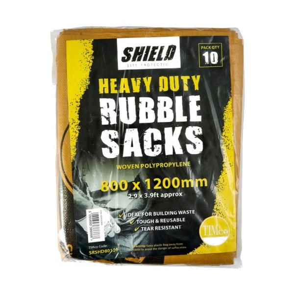 Shield Rubble Bag; Woven; 80 x 120cm; Pack (10)