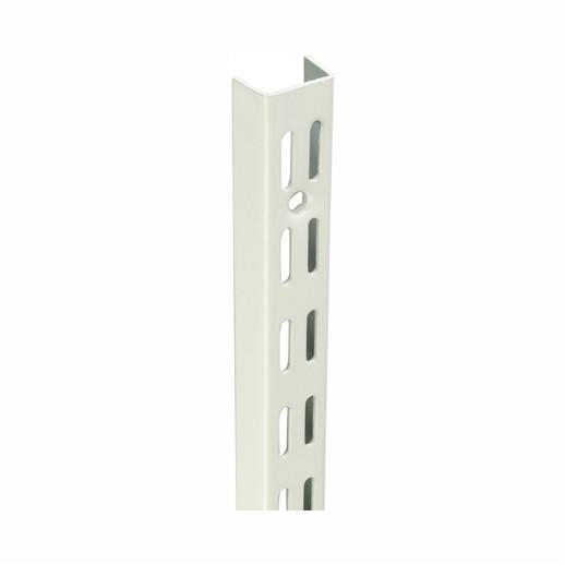 "Sapphire DU430BC Twin Slot Shelving Wall Fixed Upright; 425mm (16 3/4""); White (WH); (AS 11117)"