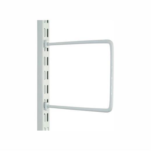 "Sapphire DFB150 Spring Rod Bookend; Twin Slot System; 150mm (6""); White (WH); Pack (2); (AS 11506)"