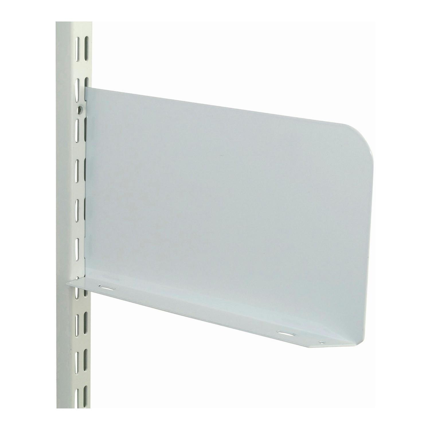 "Sapphire DSE150 Shelf End; Twin Slot System; 150mm (6""); White (WH); Pack (2) (1 Pair)"