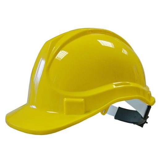 Scan PPESHDELY Deluxe Safety Helmet; Yellow (YEL); Ppesh; HP05; EN397:1995