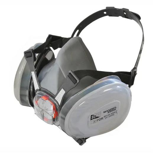 Scan SCAPPERESPP2 Twin Half Mask Respirator + P2 Dust Filter Cartridges