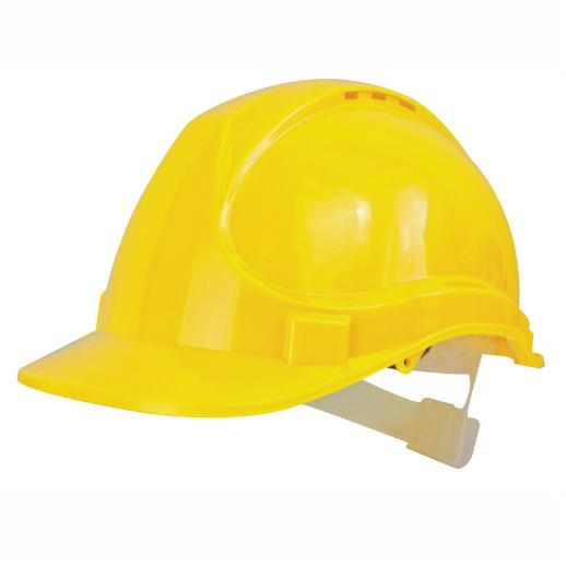 Scan PPESHDELY Deluxe Safety Helmet Yellow