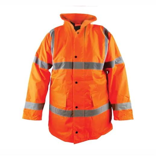 "Scan WWHVMJ Scan Hi-Vis Motorway Jacket; Orange (OR); Medium (M); 41"" Chest"