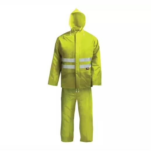 "Scan BX230-L Hi-Visibility Rain Suit; Yellow (YEL); Large (L) (39""-42"")"