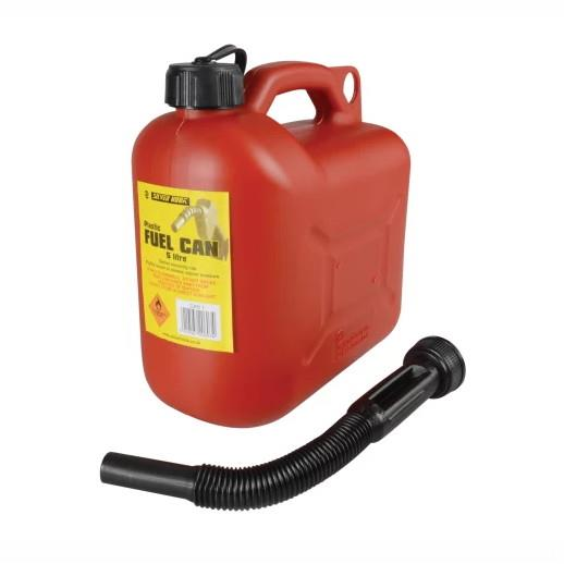 Silverhook CAN1 Leaded Petrol Can & Spout; Red (RD); 5 Litre