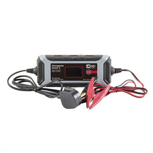 SIP 03979 Chargestar Smart 4 230 Volt 50Hz Input; To Suit SLA; AGM; Gel And VRLA Batteries; 6 and 12 Volt Batteries; 9 Stage (4 amp)