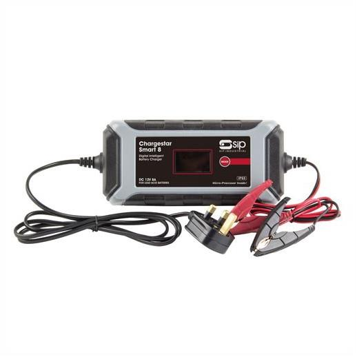SIP 03980 Chargestar Smart 8 230 Volt 50Hz Input; To Suit SLA; AGM; Gel And VRLA Batteries;12 Volt Batteries; 9 Stage (8 amp)