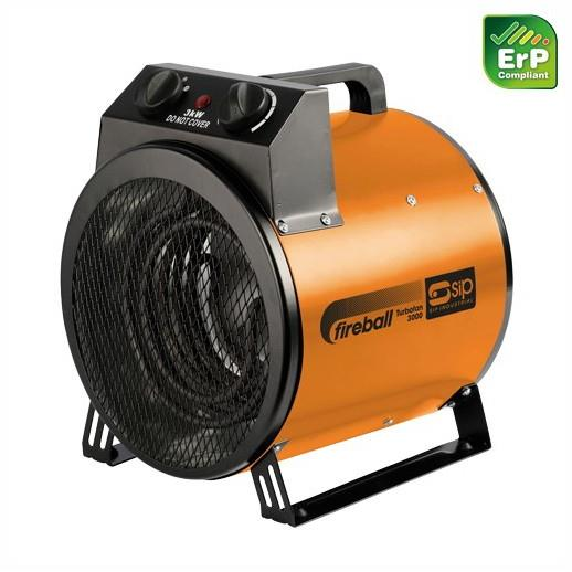 SIP 09160 Fireball Turbofan 3000; 240 Volt Heater; 2 Function; 10,200 BTU/hr On 3kW Output; Conventional Fan Setting