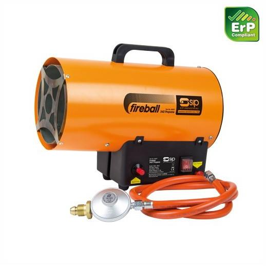 SIP 09287 Fireball 342 Propane Heater; 24,121 BTU/Hr Heat Output; 230m³ (8,122 cu. ft) Approx. Heat Area; 230 Volt Supply