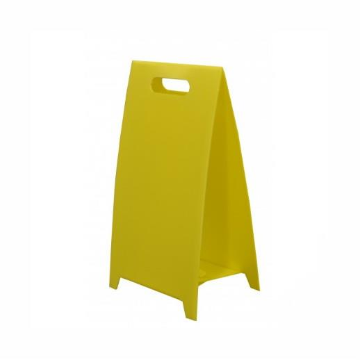Spectrum 4660 Blank A-Board Floor Stand For Signs; Yellow (YEL); Corex; 480 x 250mm