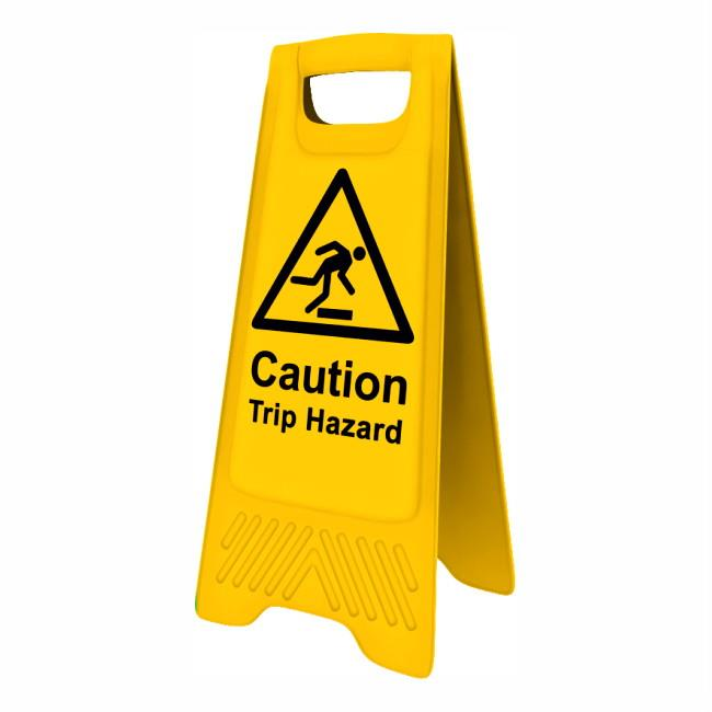 "Spectrum 4706 Heavy Duty A-Board; ""Caution Trip Hazard""; Yellow (YEL); 610 x 300mm"