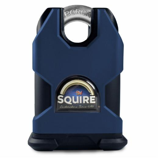 Squire SS50CS Solid Steel Stronghold Padlock; 50mm Body;  Closed Shackle; LPCB Level 2; CEN 4; Security Rating 9; 6 Pin