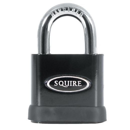 Squire SS50P5 Solid Steel Stronghold Padlock; 50mm Body; 10mm Open Shackle; CEN 3; Security Rating 8; 5 Pin