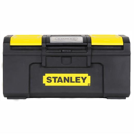 "Stanley 1-79-216 One Touch Toolbox; With Storage Compartments In Lid; Removable Tool Tray; 40cm (16"")"