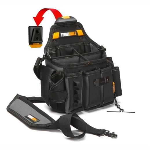 Toughbuilt TB-CT-104 Master Electrician Pouch With Shoulder Strap; Clip Tech System