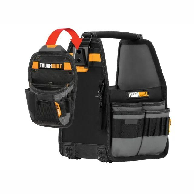"Toughbuilt TB-CT-180-8 Tool Tote; 8""; Complete With Universal Pouch; Cliptech System"