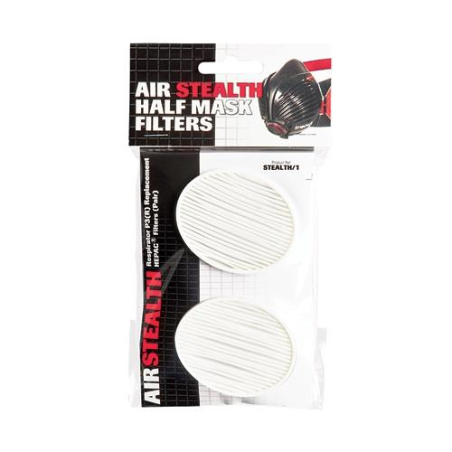 Trend Stealth/1; Air Stealth Half Mask Respirator Replacement Filters P3(R) Rated; Pair Pack