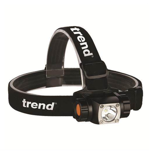 Trend TCH/HP/H20 LED Pivot Head Torch; 350 Lumens; White Light Cree LED; 6 Modes; One Button Operation; Includes 3 x AAA Batteries